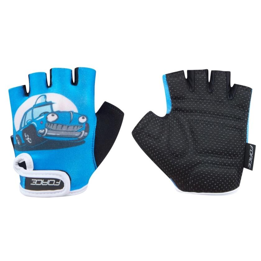 FORCE - rukavice  KID dětské, modré-auto