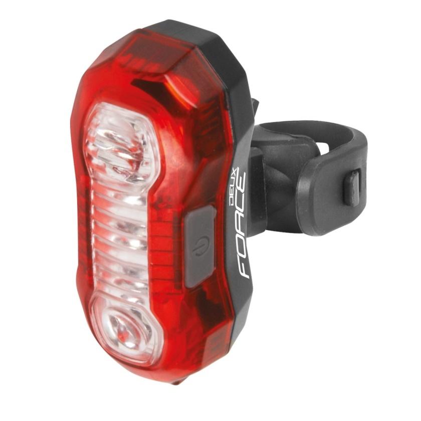 FORCE - blikačka zadní  DEUX 5 LED, USB