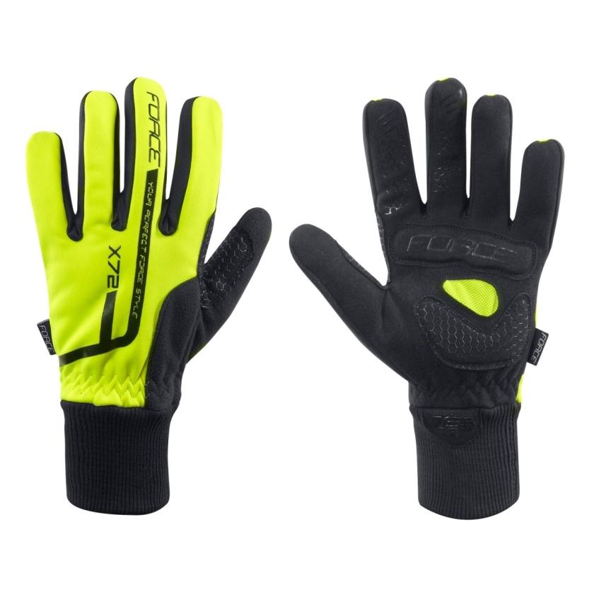 FORCE - rukavice zimní  X72, fluo