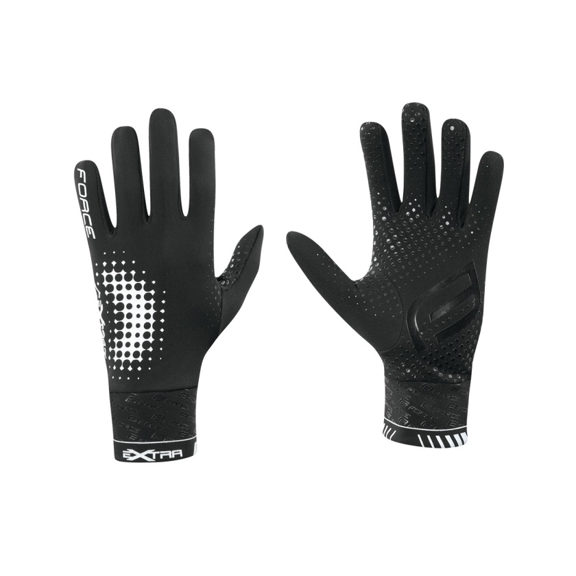 FORCE - rukavice  EXTRA, jaro-podzim, černé