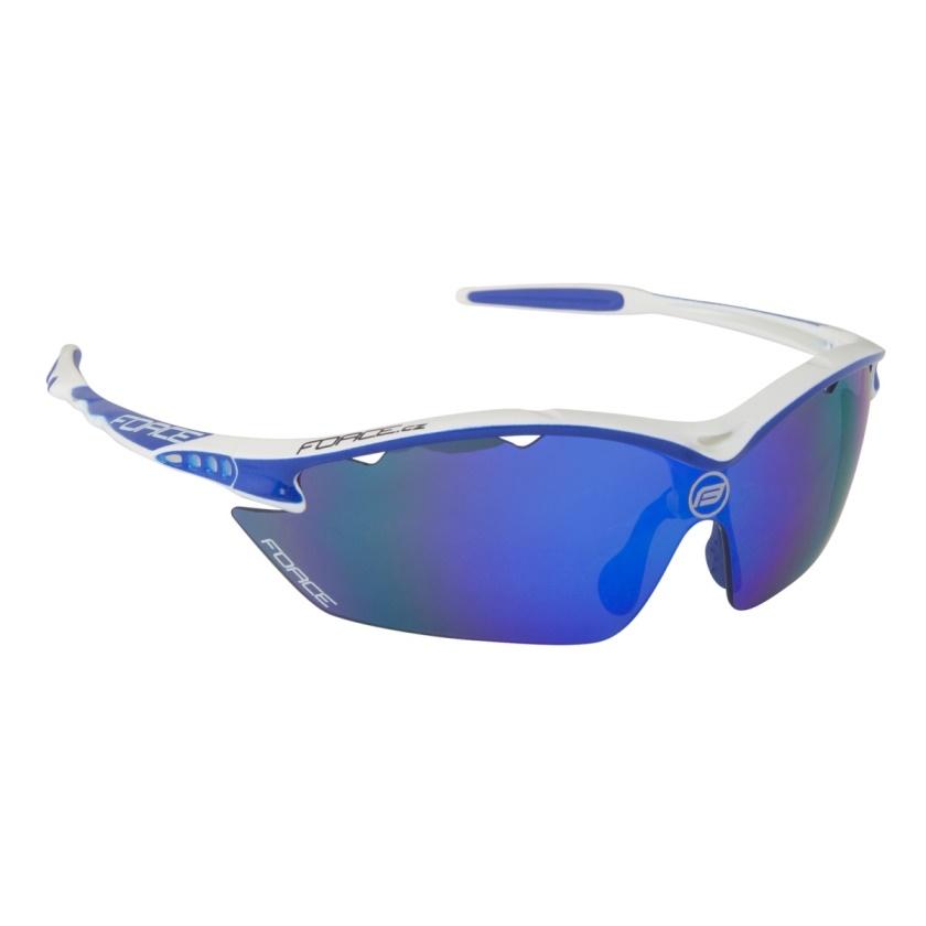 FORCE - brýle  RON bílé, modrá laser skla