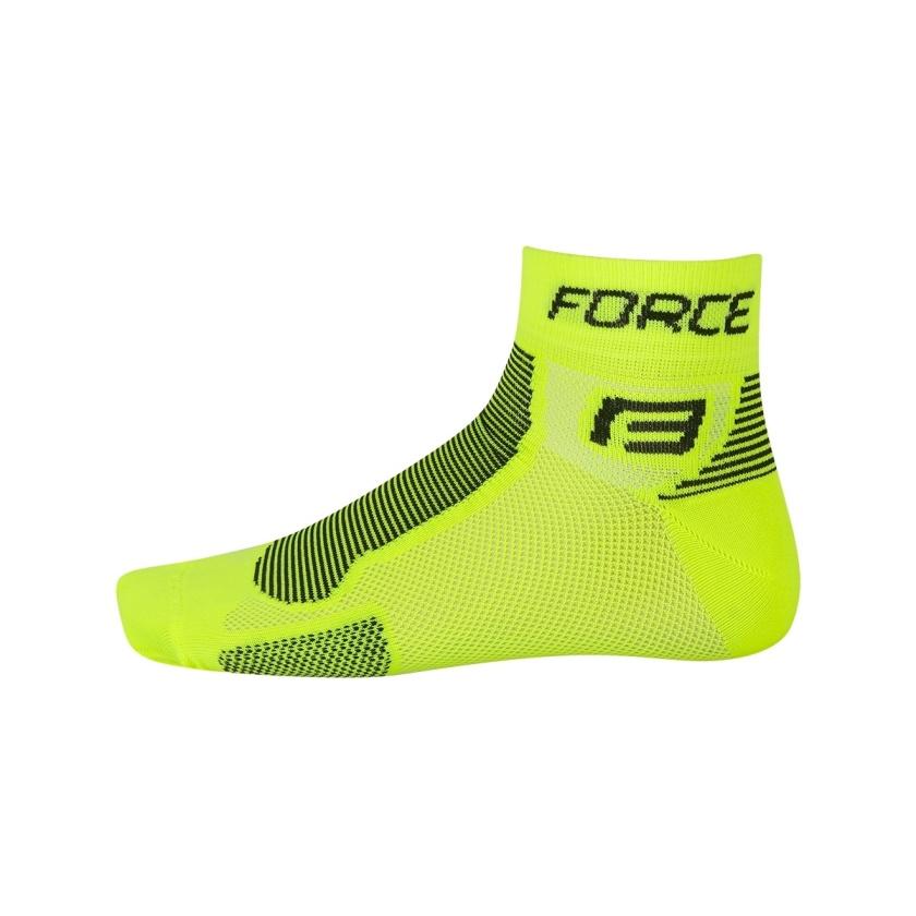 FORCE - ponožky  1, fluo-černé