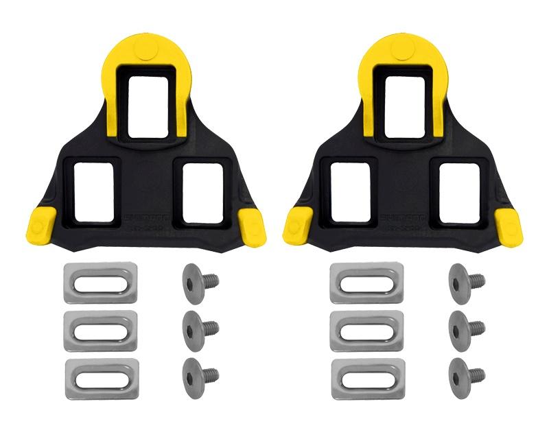 SHIMANO - zarážky SM-SH11, výkyv 6st, žluté, 1 pár