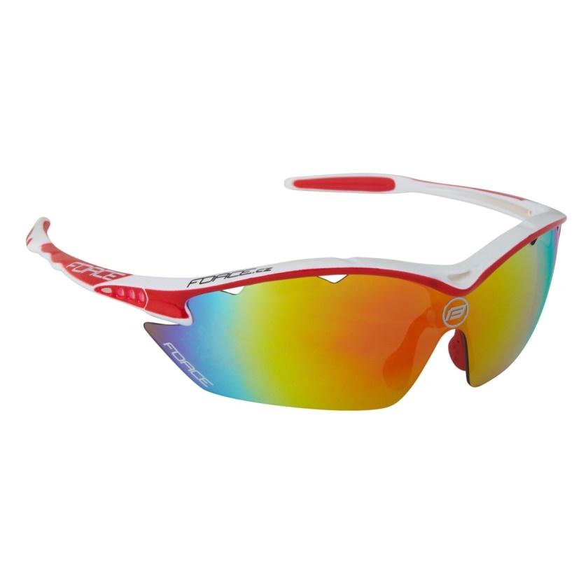 FORCE - brýle  RON bílé, červená laser skla