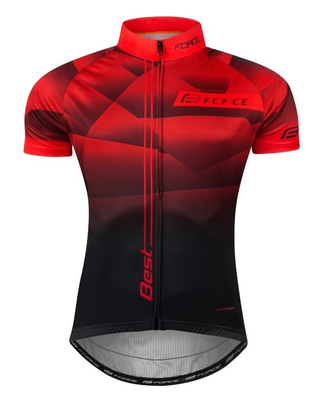 FORCE - dres  BEST krátký rukáv,červeno-černý