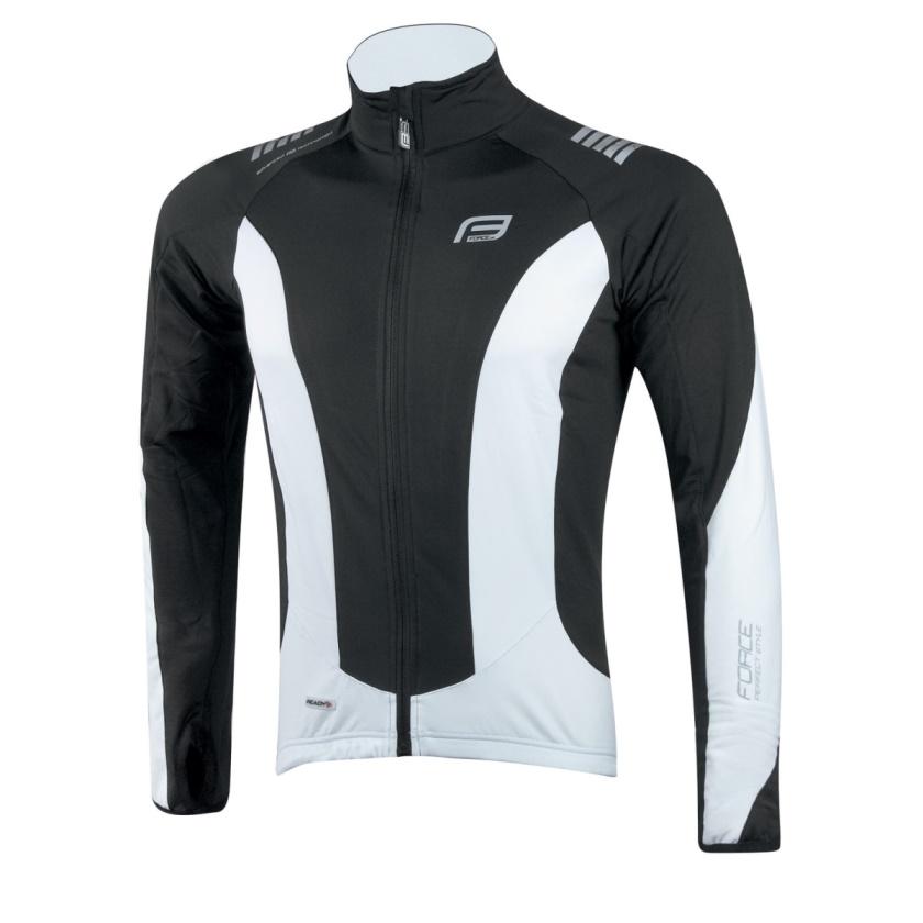 FORCE - bunda/dres  dlouhý rukáv X68, černo-bílá