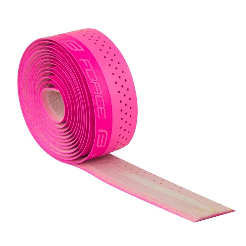 FORCE - omotávka  PU s vytláčeným logem, růžová