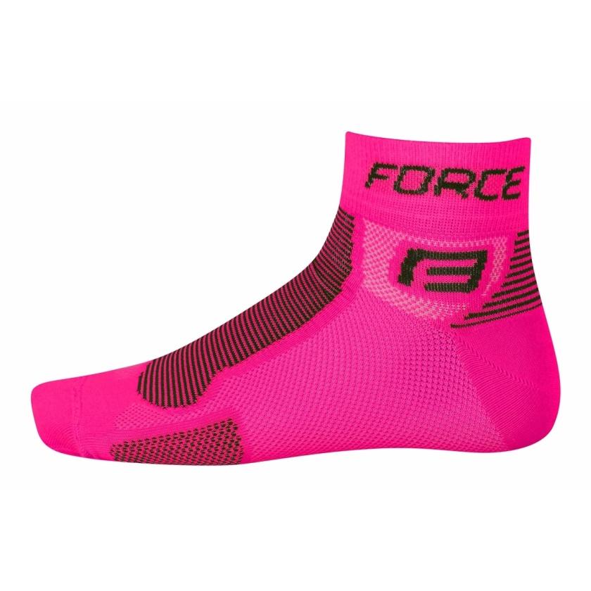 FORCE - ponožky  1, růžovo-černé