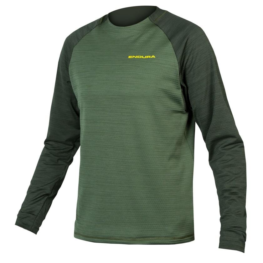 ENDURA pánský dres SingleTrack Fleece Green Forest