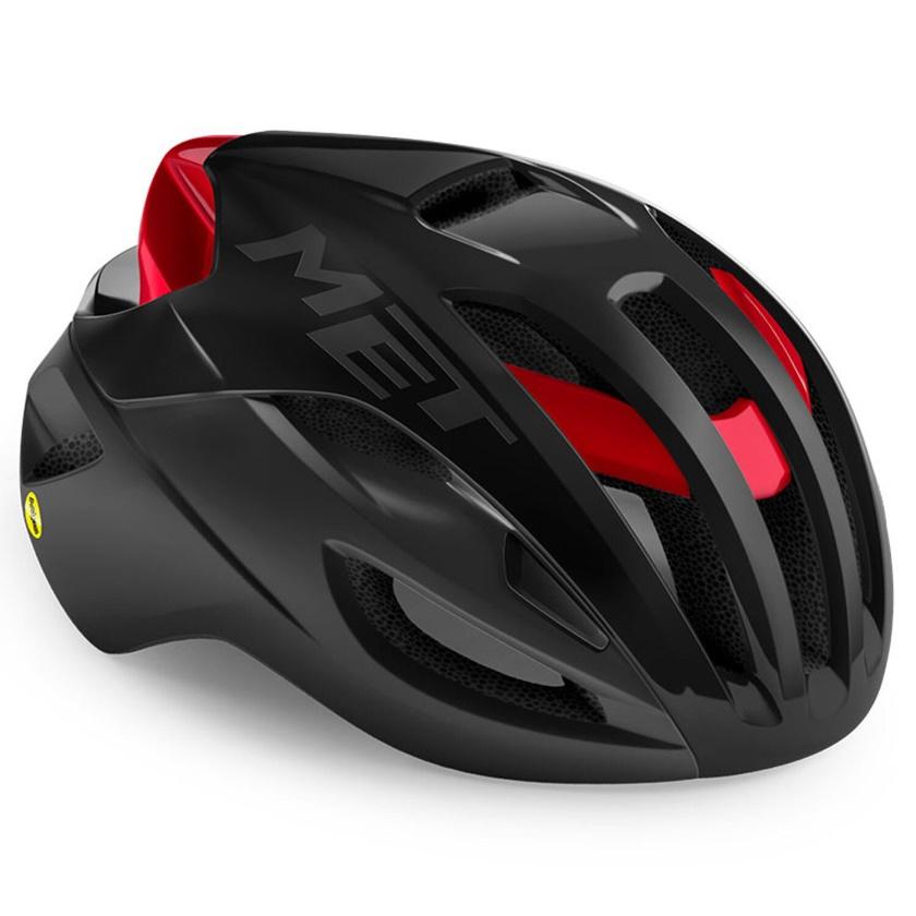MET - helma RIVALE MIPS černá/červená matná/lesklá