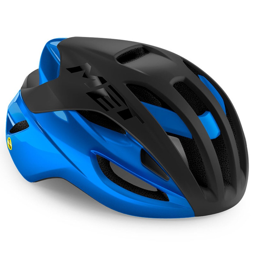 MET - helma RIVALE MIPS černá/modrá matná/lesklá