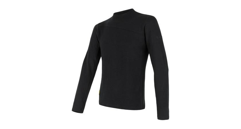 SENSOR - pánské triko dl.rukáv MERINO EXTREME černá S