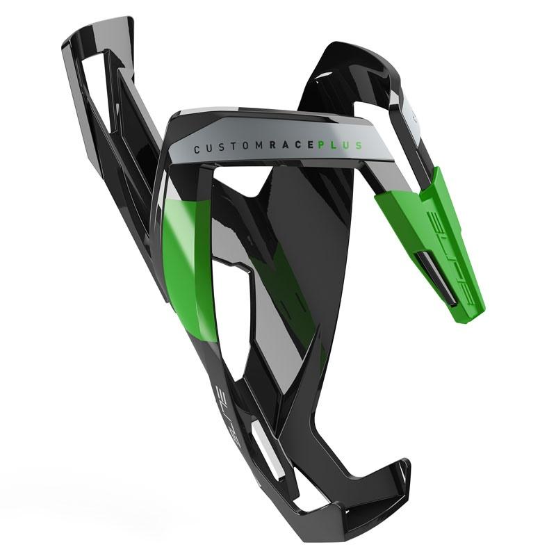 ELITE košík CUSTOM RACE PLUS lesklý černý/zelený