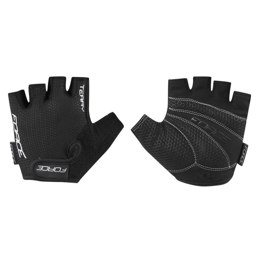 FORCE - rukavice  TERRY, černé