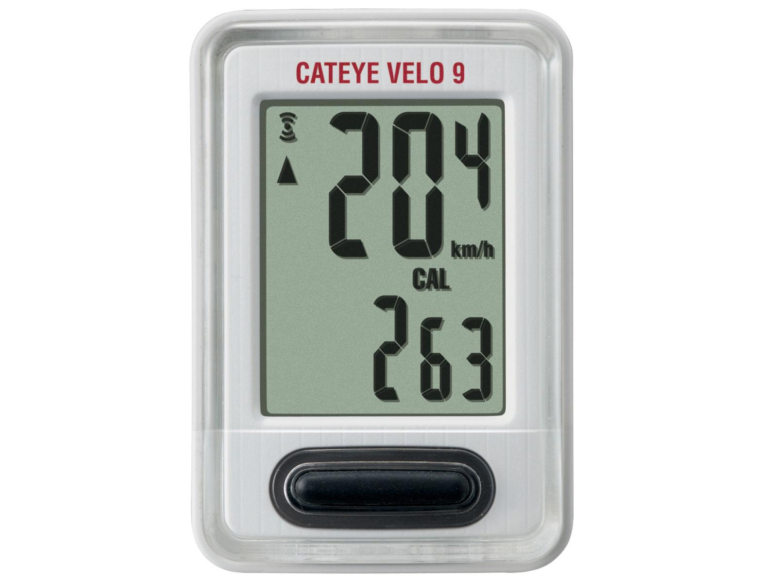 Cateye Cyklopočítač Cat Velo 9 Vl820 bílá