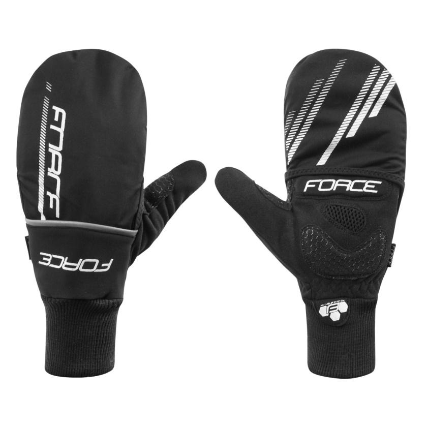 FORCE - rukavice zimní  COVER, černé