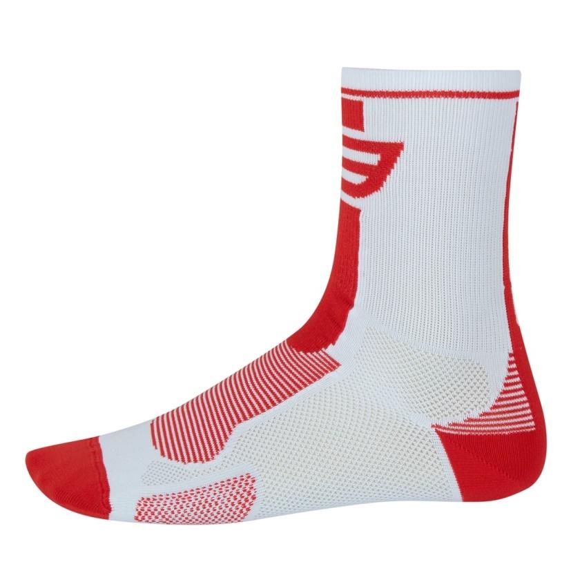 FORCE - ponožky  LONG, bílo-červené