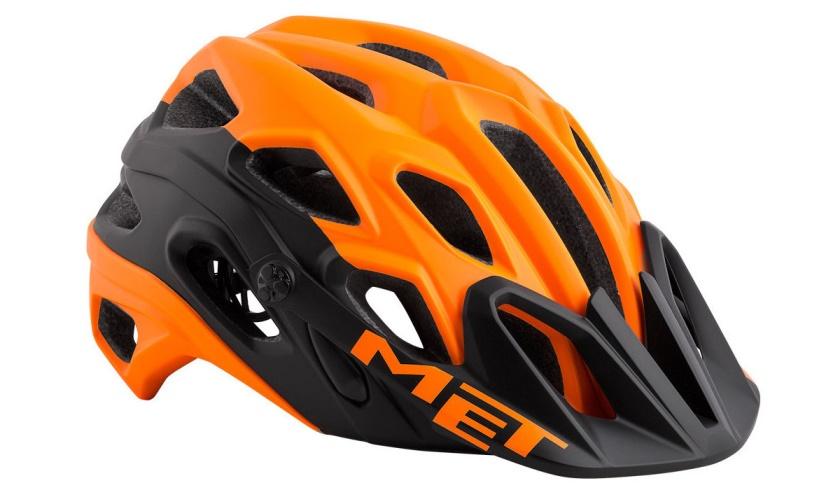 MET - helma LUPO oranžová/černá matná