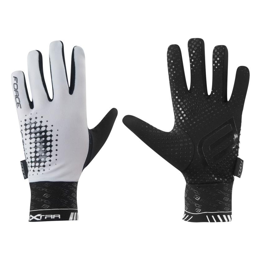 FORCE - rukavice  EXTRA, jaro-podzim, bílo-černé