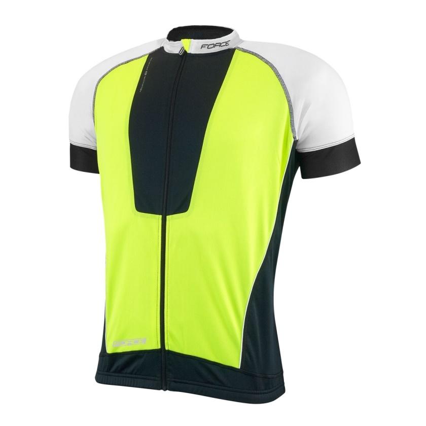 FORCE - dres  AIR krátký rukáv černo-fluo-bílý