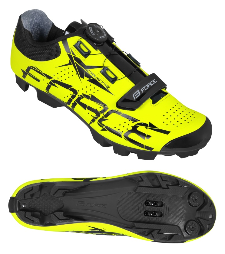 FORCE - tretry MTB CRYSTAL, fluo 43