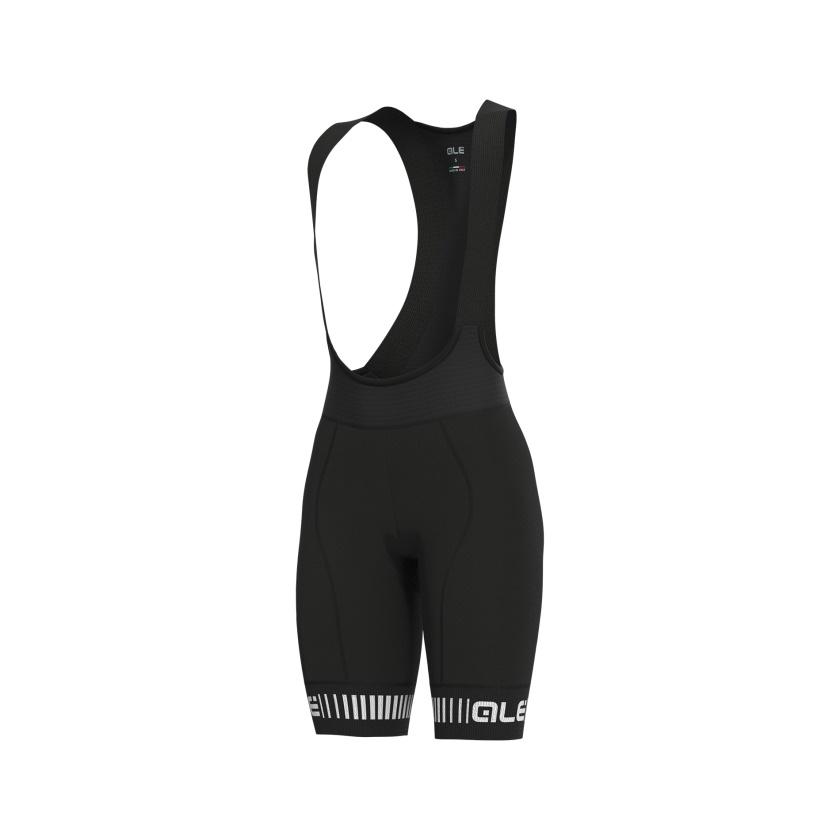 ALÉ - cyklistické kalhoty GRAPHICS PRR STRADA black-white