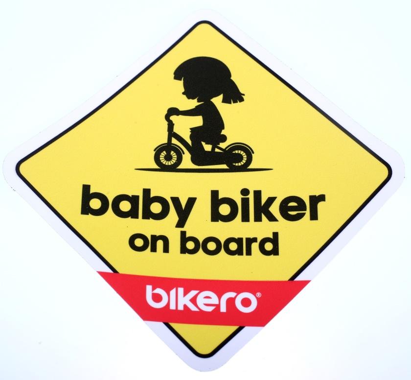 BIKERO - samolepka - Baby Bikerka