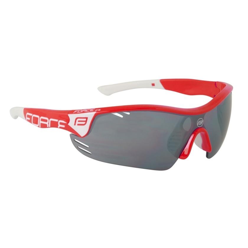 FORCE - brýle  RACE PRO červeno-bílé,černá laser skla