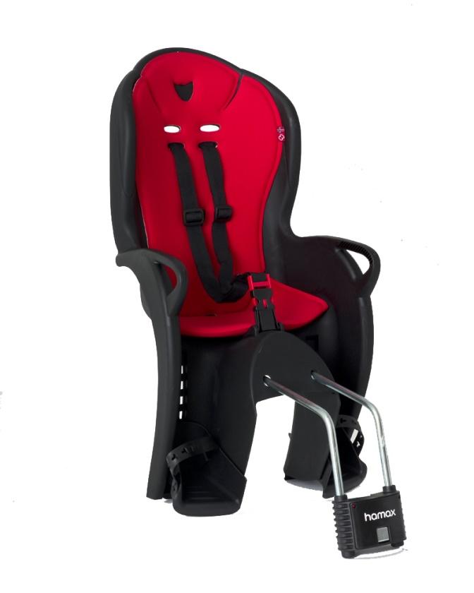 HAMAX - cyklosedačka KISS černá/červená