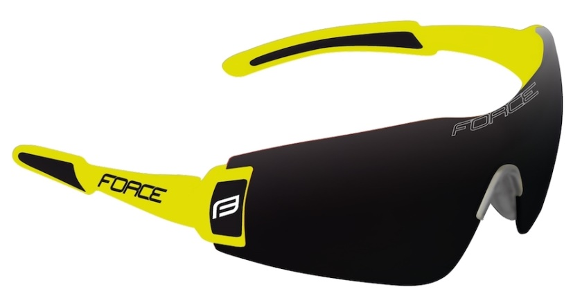 FORCE - brýle  FLASH, fluo-černé, černé skla